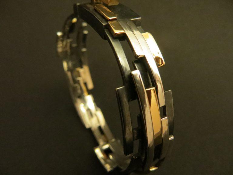 bracelet Les rues de Paris en or 18k et argent 925