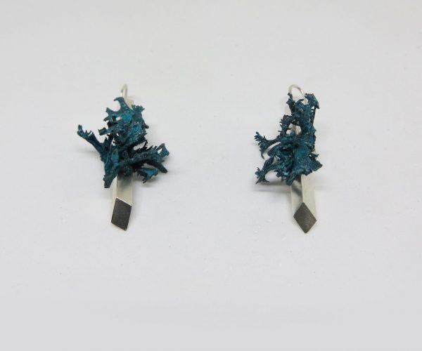 Boucles d'oreilles Pachamama argent 925 et bronze patiné